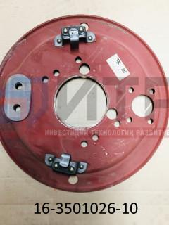 Щит переднего тормоза со скобой (под диск 19,5'' ПАЗ 3204-03 пригородный) 16-3501026-10